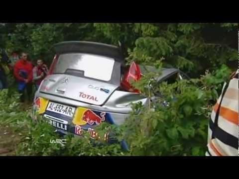 Kimi Raikkonen crash in Bulgaria rally (2010)