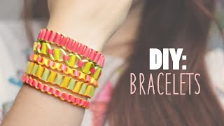 DIY: Easy Bracelets using Drinking Straws - Recycling Project - YouTube