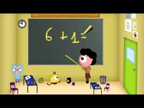 Dessin animé: Cours de maths:  apprendre l'addition et additionner les chiffres de 1 à 10