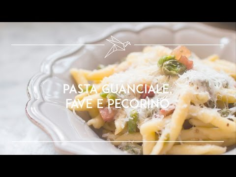 strozzapreti con fave, guanciale e pecorino romano - ricetta