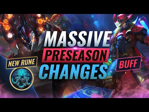 MASSIVE CHANGES: NEW Buffs + REWORKS + Runes Coming in Preseason 11 - League of Legends