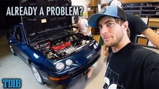 K20A INTEGRA FIRST DRIVE! Vtec Kicked in Way Too Hard... by That Dude in Blue