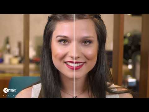 Hairdresser - Kmax Tutorial - Katie shows us how to fill and reshape her eyebrows with Kmax Scalp Shader