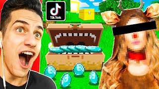 I Tested VIRAL TIKTOK MINECRAFT HACKS On My GIRLFRIEND to Steal Her DIAMONDS!