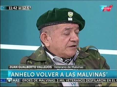 Juan Gualberto Vallejos, Veterano de Malvinas - 11-07-2016