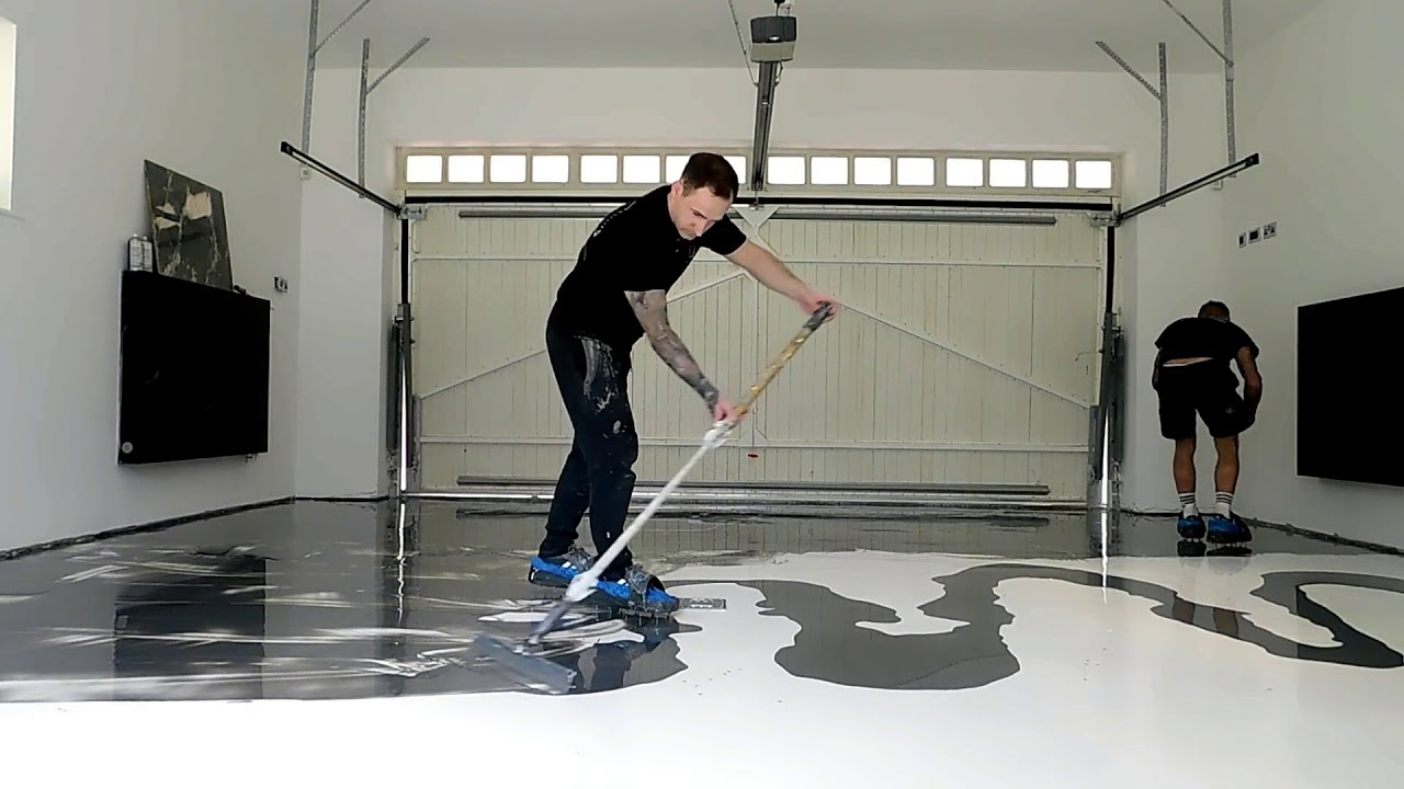 Epoxy Resin Garage Flooring Installation