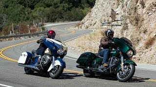 10. 2015 Harley Street Glide vs Indian Chieftain Part 1 - MotoUSA