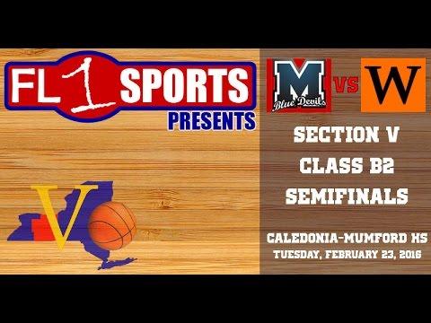 Mynderse vs. Wellsville .::. 2016 Section V Class B2 Semifinal on 2/23/16 (VIDEO REPLAY) видео