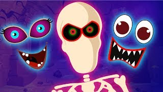 Funny Missing Skeleton Face | Guess The Features Fun Songs by Teehee Town
