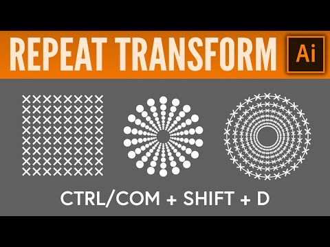 Repeat Tranform - Adobe Illustrator CC Tutorial