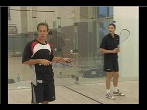 Squash Serve Returns : Squash Serve Returns: Down Wall Backhand