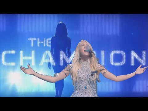 "Carrie Underwood ""The Champion"" Superbowl 2018 Opening Song Ft. Ludacris (Lyrics In Captions)"