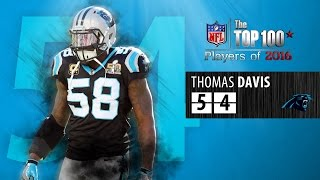 #54: Thomas Davis (LB, Panthers) | Top 100 NFL Players of 2016 by NFL