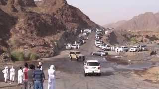 Arab youngsters drifting cars near Hatta.