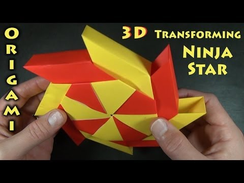 3-D Transforming Ninja Star designed by Ray Bolt