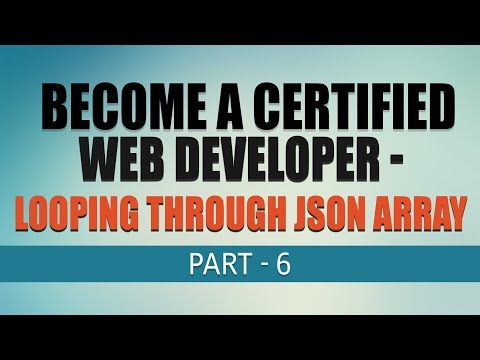 Free Complete Web Development Tutorial | Looping Through JSON Array | Part 6 | Eduonix