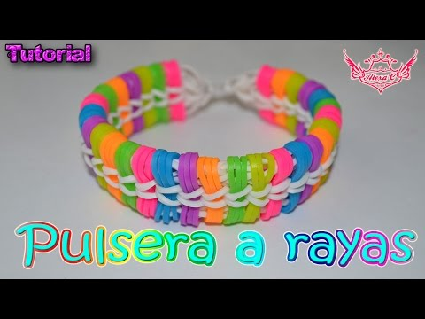 ♥ Tutorial: Pulsera a Rayas (sin telar) ♥