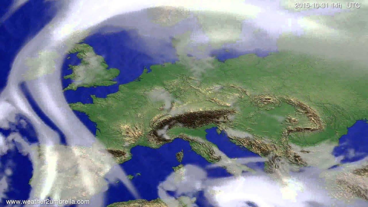 Cloud forecast Europe 2015-10-27