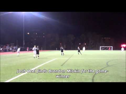 Brandeis Men's Soccer Game-Winning Goal vs Bowdoin