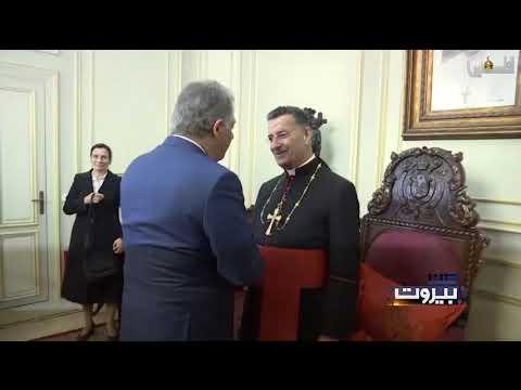 تدشين السيد الرئيس محمود عباس شارع القديس مار شربل في بيت لحم بعيون لبنانية