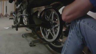 10. Yamaha Road Star Warrior Rear Wheel Removal and Install