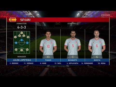 2018 FIFA World Cup Russia - Portugal vs Spain (Full Gameplay) (видео)
