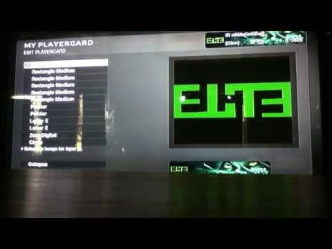 Black Ops Playercard: Elite with Background