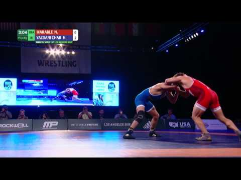 70 kg, Nick Marable, USA vs Hassan Charati, Iran