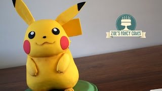 How to make a 3D Pikachu cake from Pokemon. A perfect cake for any Pokemon fan!You can see more of my pokemon cakes and cake toppers here - https://www.youtube.com/playlist?list=PLAs9a_RIYksfYTAmqyqahSwq5yZdyv0aETools and products used in this video - Pikachu image - http://www.smashbros.com/images/og/pikachu.jpgCake frame - http://amzn.to/2qDGOLcFondant icing - http://amzn.to/1TCs62ZCake modelling tool - https://www.facebook.com/commerce/products/1878762348816211/Craft mat - http://amzn.to/2dMKpl9Cake smoothers - http://amzn.to/20DQRewTylose powder - http://amzn.to/2p51dqcRainbow dusts cream - http://amzn.to/2qrXeZARainbow dusts brown - http://amzn.to/2oTc7A5Basic Victoria sponge cake recipe - Ingredients: 225g butter225g caster sugar4 eggs225g self-raising flour 1 tsp vanilla essenceMethod:Cream together the butter and sugar, then beat in the eggs and vanilla essence. Once smooth and creamy, fold in the flour.Pour in to a greased cake tin and bake in the oven at 180degrees for approximately 40 minutes, until golden brown and a knife comes out clean.Buttercream recipe - 600g icing sugar, sifted300g unsalted or salted butter, softenedoptional flavouringBeat the ingredients together.- To make rice krispie treats you just need to melt a little butter and your marshmellows in a pan over the hob, take off the heat, then mix in your rice krispies and let them cool down.Chocolate ganache recipe - - To make chocolate ganache you can simply melt chocolate with double cream in a glass bowl above a pan of boiling water ( I use the hob to heat the water, but be sure to turn this right down once the chocolate begins to melt so it doesn't burn). I use the ratio of 3 to 1 chocolate to double cream.To see more of my cakes and creations please visit my pages below-Facebook https://www.facebook.com/zoesfancycakes Twitter https://twitter.com/zoesfancycakesInstagram https://instagram.com/zoesfancycakes/Website http://www.zoesfancycakes.co.uk/You can also check out my online courses with 25% off below! :)Faces - https://www.udemy.com/how-to-make-sugar-craft-faces/?couponCode=YT25OFFRoses - https://www.udemy.com/how-to-make-sugar-craft-roses/?couponCode=YT25OFF