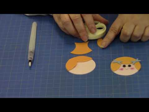 How to  Make a Girl Face using the FMM Mix N Match Funny Faces & More Cutter