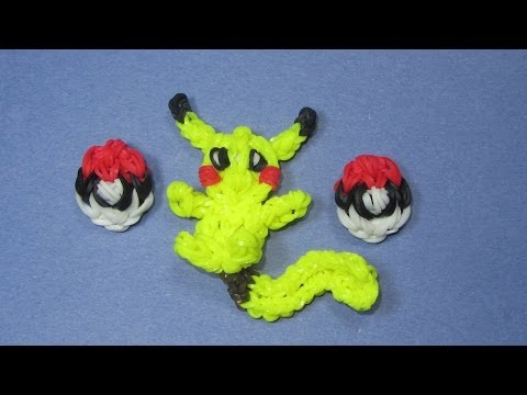 Rainbow Loom Charm: POKEBALL (Pokemon) for Pikachu Design (DIY Mommy)