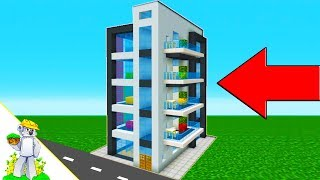 "Minecraft Tutorial: How To Make A Modern Apartment Building ""2019 City Tutorial"""