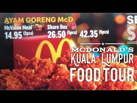 Mcdonald's Kuala Lumpur Food Tour Malaysia: Prosperity Burger, Ayam Goreng McD
