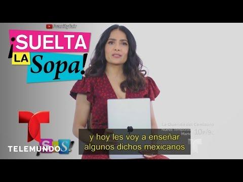 Notícias dos famosos - Salma Hayek da clases de modismos mexicanos  Suelta La Sopa  Entretenimiento