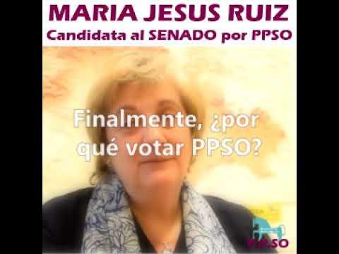 María Jesús Ruiz pide el voto a los indecisos.