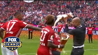 Bayern Munich celebrate title with beer showers by FOX Soccer