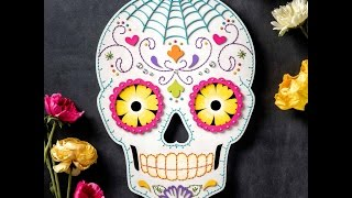 Sugar Skull Craft  DIY Halloween Decor  Apostrophe S  Hey S...