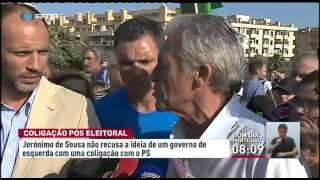 Jerónimo de Sousa não exclui a hipótese de um governo em coligação com o PS. Mas condiciona o diálogo à ideia de rutura com as políticas até agora implementadas.