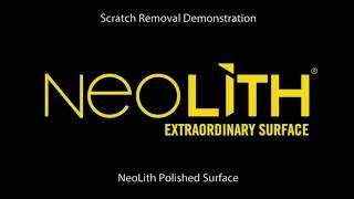 Repairing scratches on Neolith surfaces