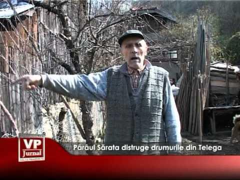 Pârâul Sărata distruge drumurile din Telega