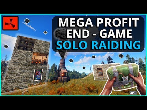 Making MEGA PROFIT From Easy Late-Game SOLO RAIDING!! Rust Solo Survival Gameplay Ep4