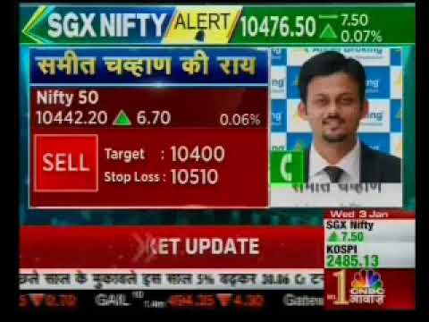 Sell Nifty 50 with a target of INR 10400- Mr. Sameet Chavan, CNBC Awaaz, 2nd January