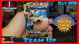 Pokemon Pack Daily Team Up Booster Opening Day 608 - Featuring ThePokeCapital by ThePokeCapital