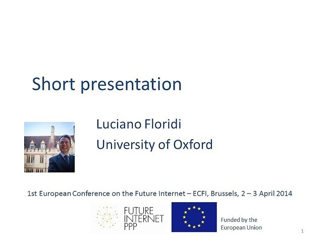 ECFI 2014: Luciano Floridi: R&D, Marketing, and Growth: An Ecosystem Perspective