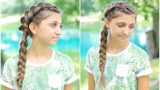 Side Dutch Braid Combo | Back-to-School Hairstyles by Cute Girls Hairstyles