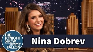 Nina Dobrev Was Bitten by a Monkey