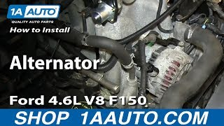 How To Install Replace Alternator 2004-08 Ford 4.6L V8 F150