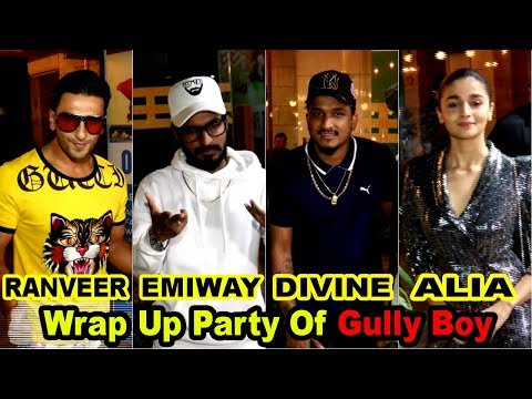 Wrap Up Party Of Gully Boy With Ranveer, Alia, Kalki, Joya & Team