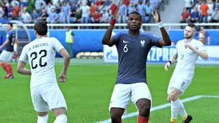 World Cup 2018 France vs Uruguay - World Cup Quarterfinals Full Match First Look Quick Sim (FIFA 18)