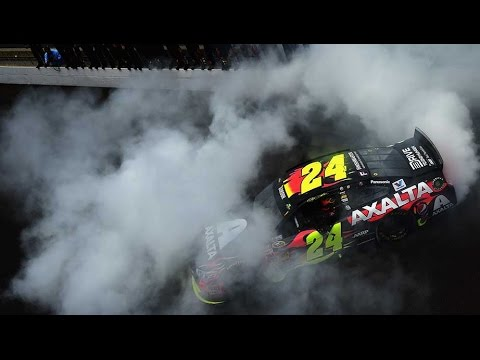 gordon - Jeff Gordon wins at Indianapolis Motor Speedway making him a five-time winner of the Brickyard 400. For more NASCAR news, check out: http://www.NASCAR.com.